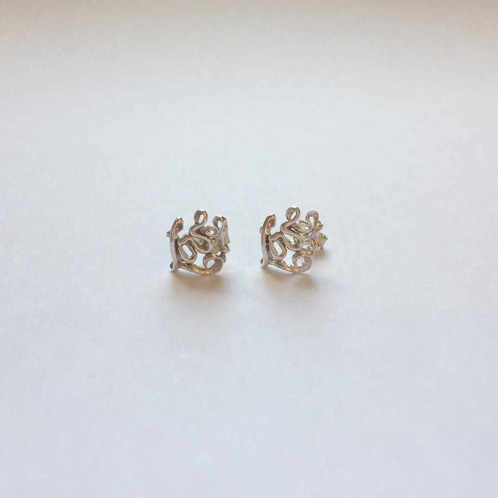 $50 Sterling Silver Love Earrings