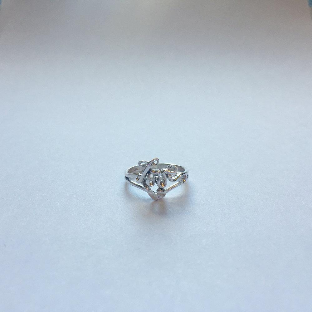 $75 Sterling Silver Love Ring