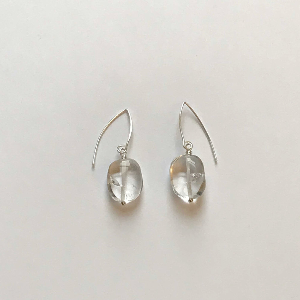 $50 Sterling Silver Rock Crystal Earrings