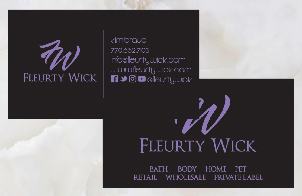 Business Card Design for Fleurty Wick Candle Co.
