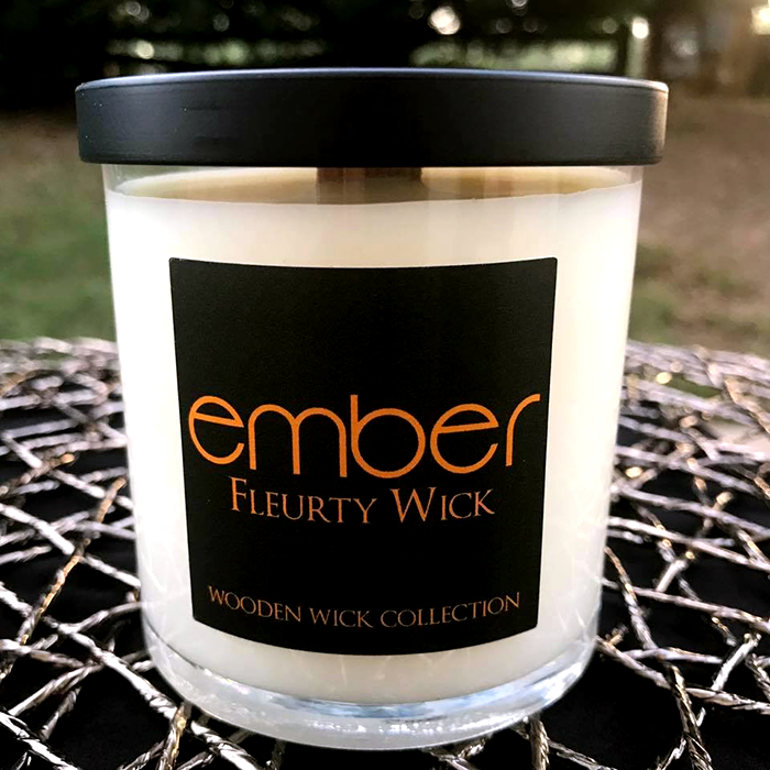 Ember Candle Label for Fleurty Wick Candle Co.