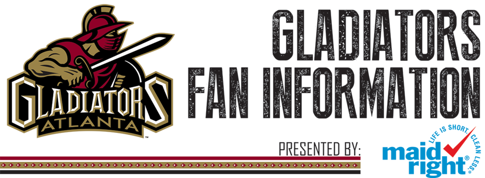 Banner Signage Created for Maid Right for Use at Atlanta Gladiators Home Games