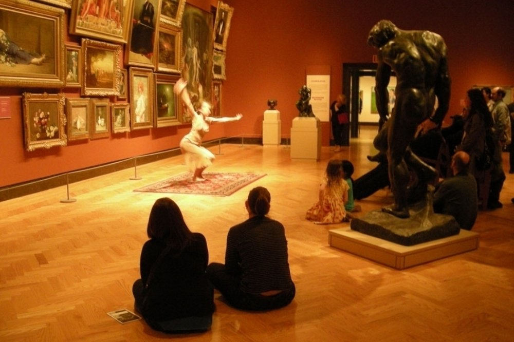 interior with moving figures - interior with moving figures presents mixed repertoire in different gallery spaces simultaneously for up to 70 minutes daily.