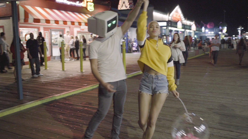 Rio Summers and Robot Dream on the Santa Monica Pier