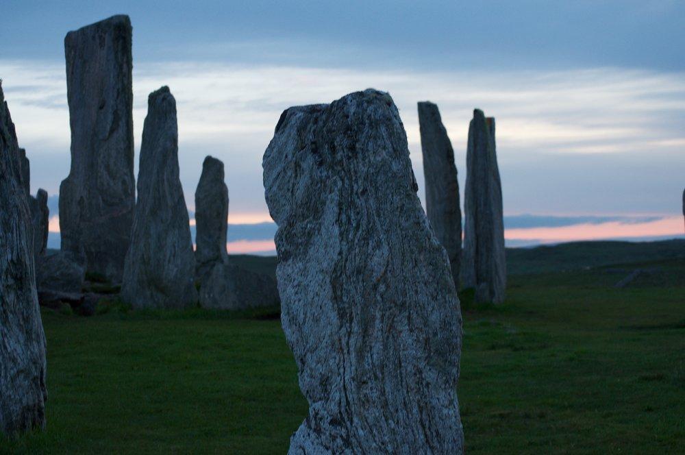 Standing stones in Scotland, © Paula Lazaroff