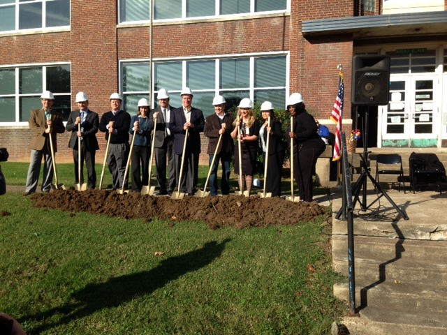 Local leaders groundbreaking