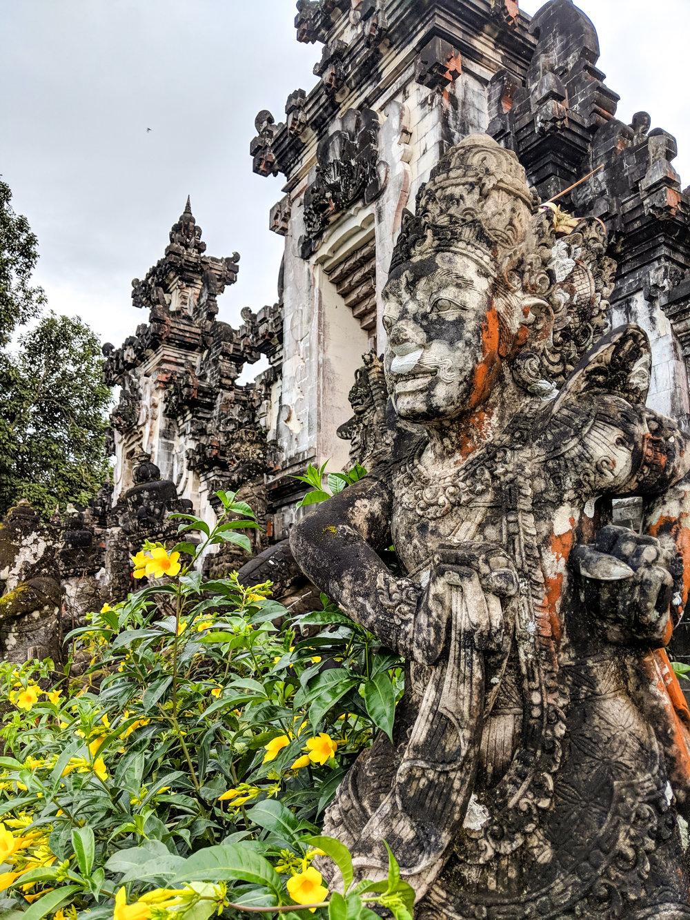 Tropical Flowers at Pura Lempuyang Temple