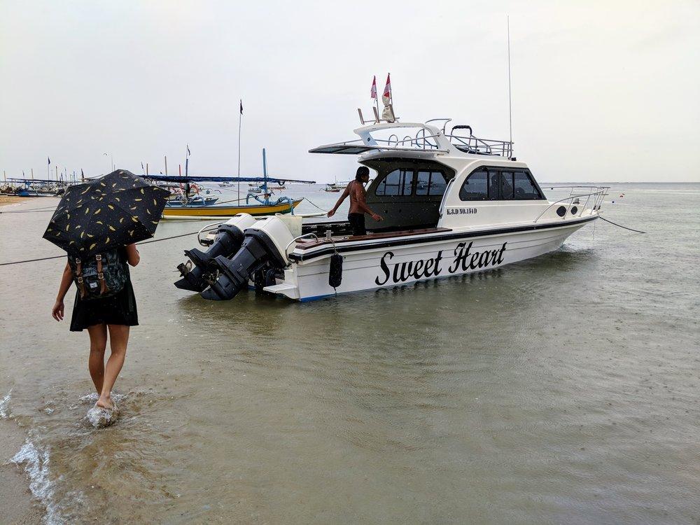 Speed Boat to Nusa Lembongan