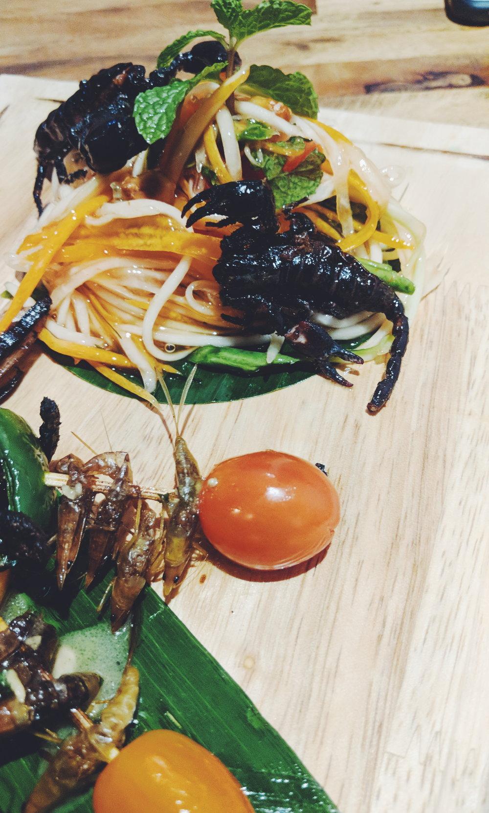 Scorpions and Green Papaya Salad