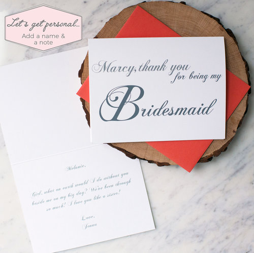 thank you for being my bridesmaid card rock candie designs