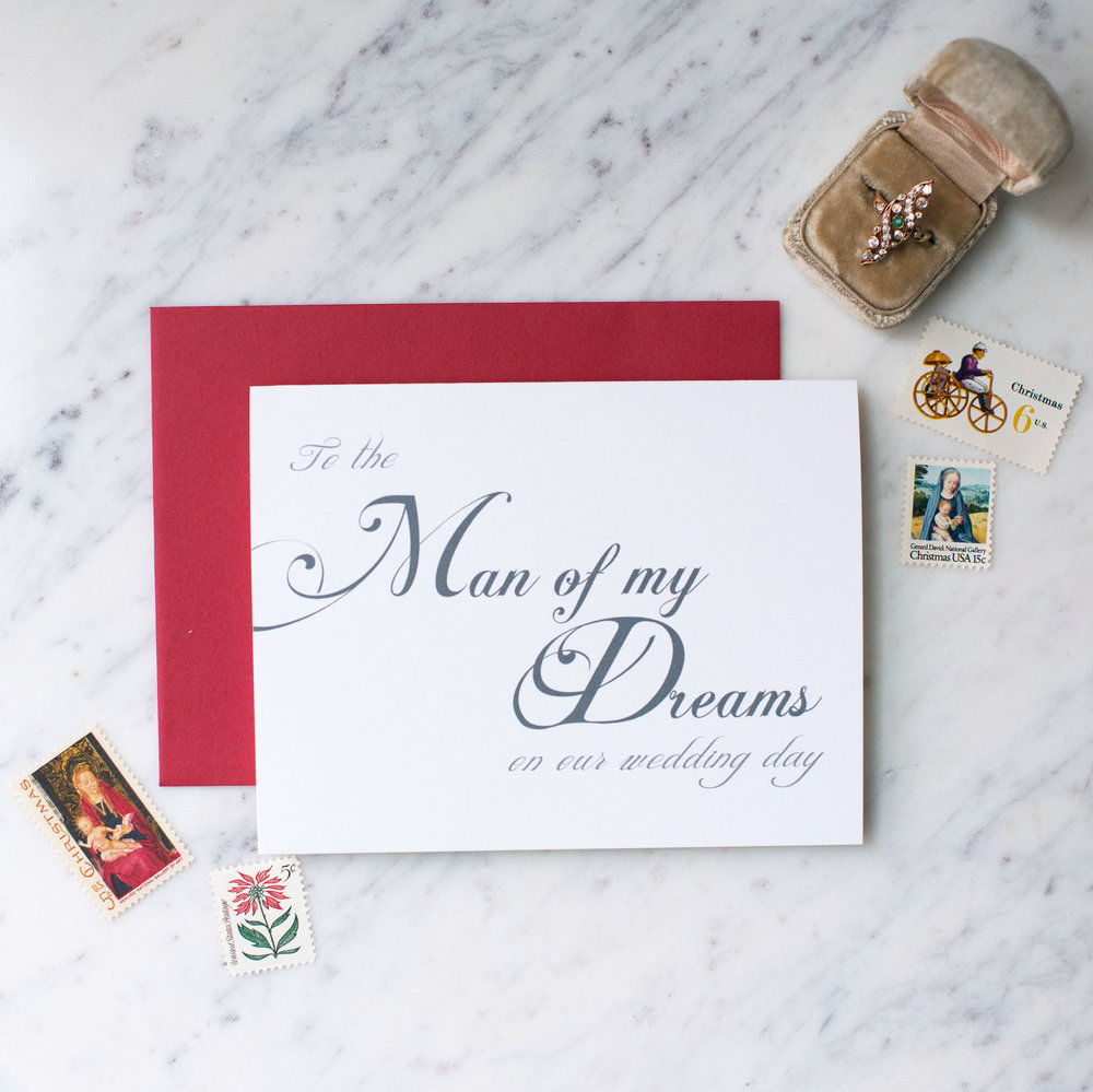 to the man of my dreams on our wedding day card rock candie designs