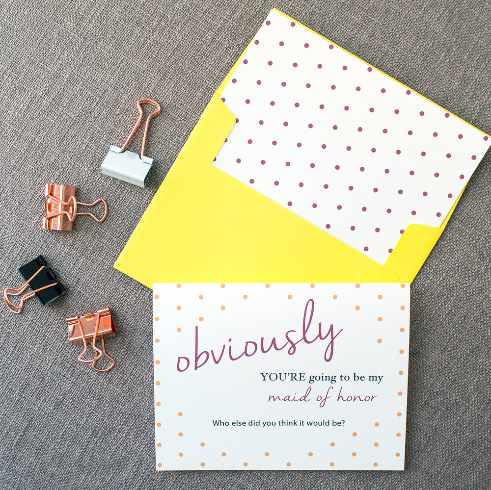 Obviously Polka Dots Card