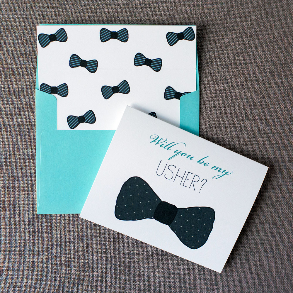 Bowtie Card - Polka Dots Card