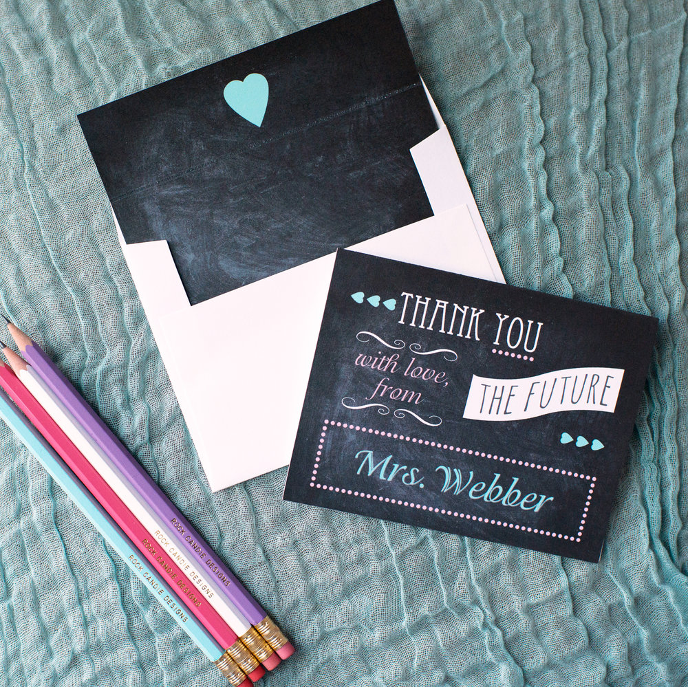 Customized Chalkboard Stationery Set