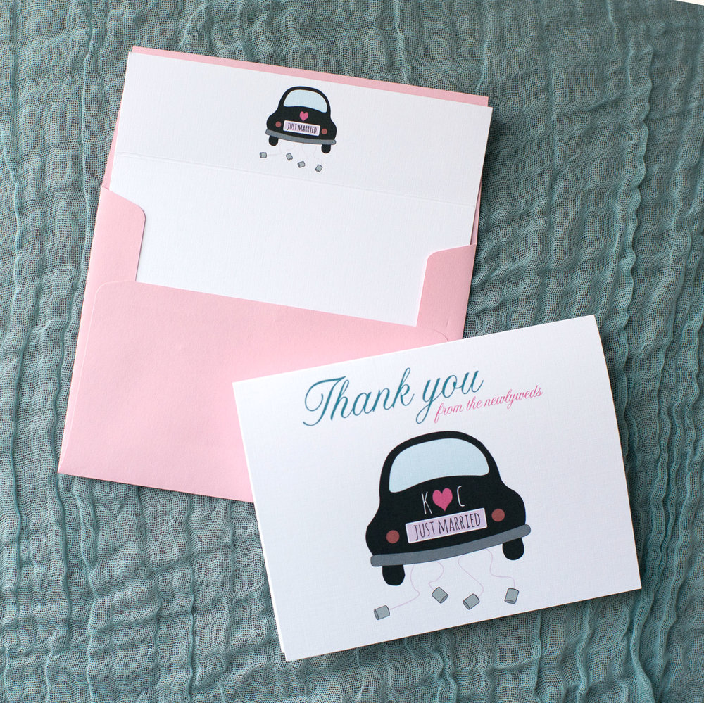 Customized Vintage Car Stationery Set