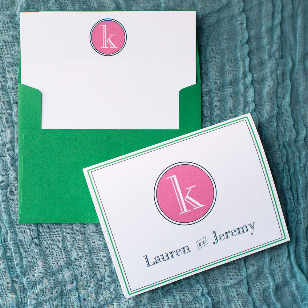 Customized Monogrammed Stationery Set