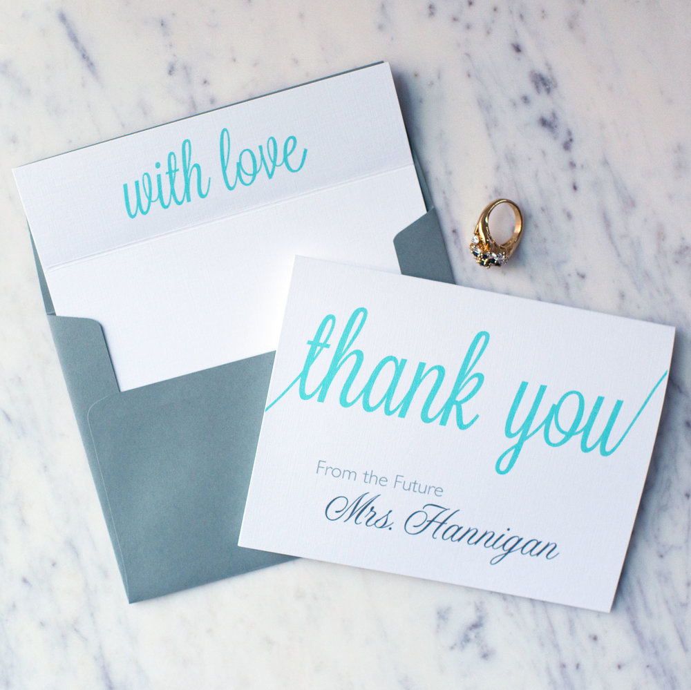 Personalized From The Future Mrs. Stationery Set