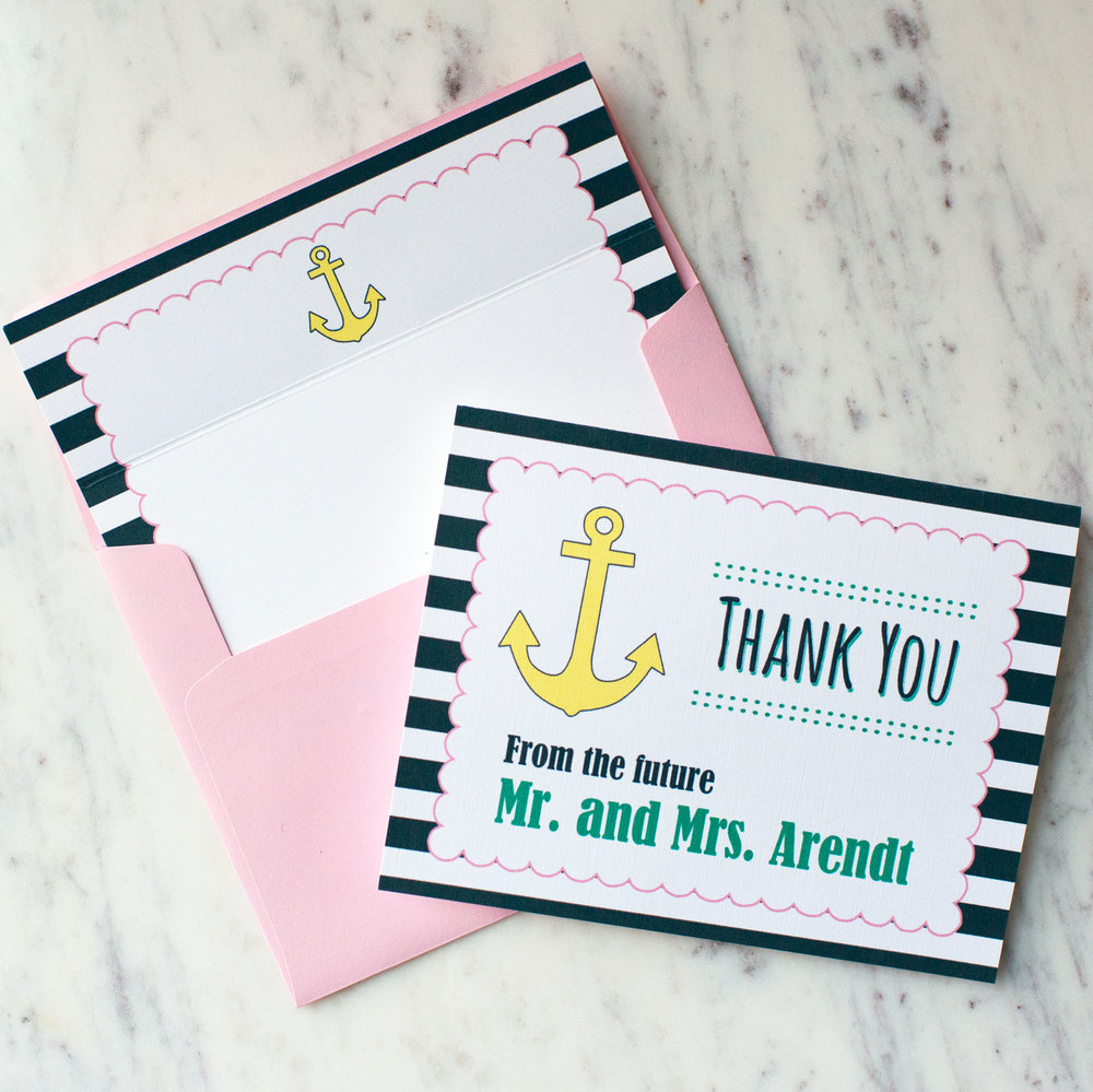 Customized Nautical Stationery Set