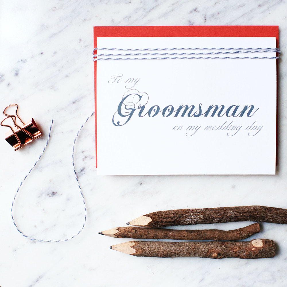 To My Groomsman On My Wedding Day Card