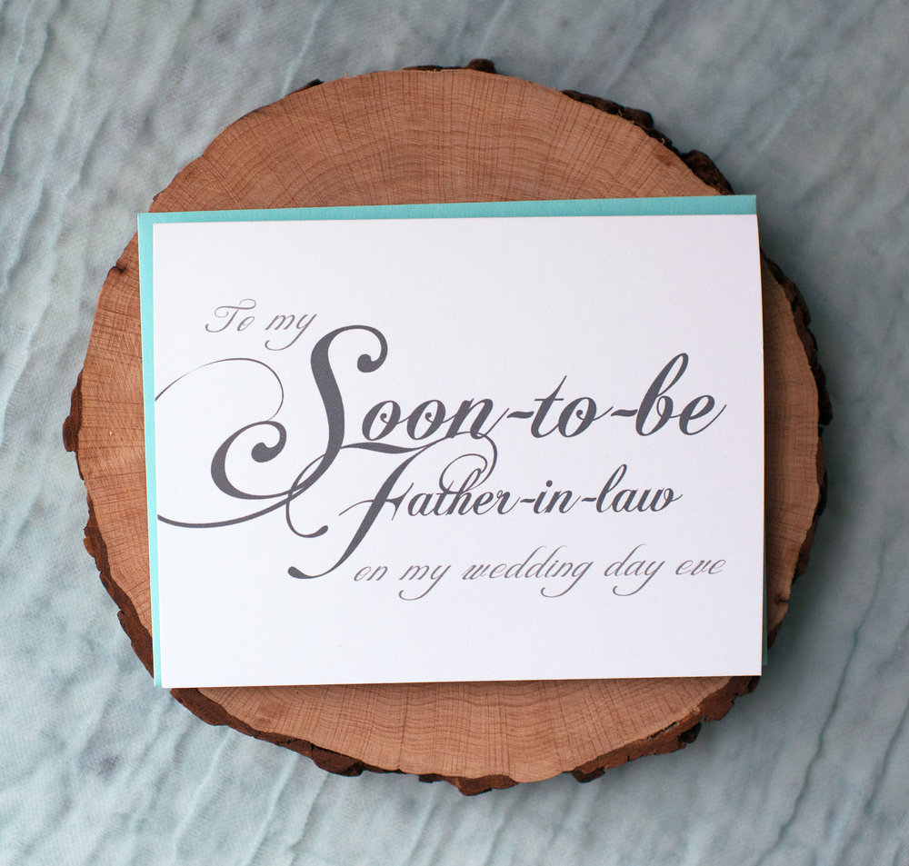 To My Soon-to-Be Father-in-Law On My Wedding Day Eve Card