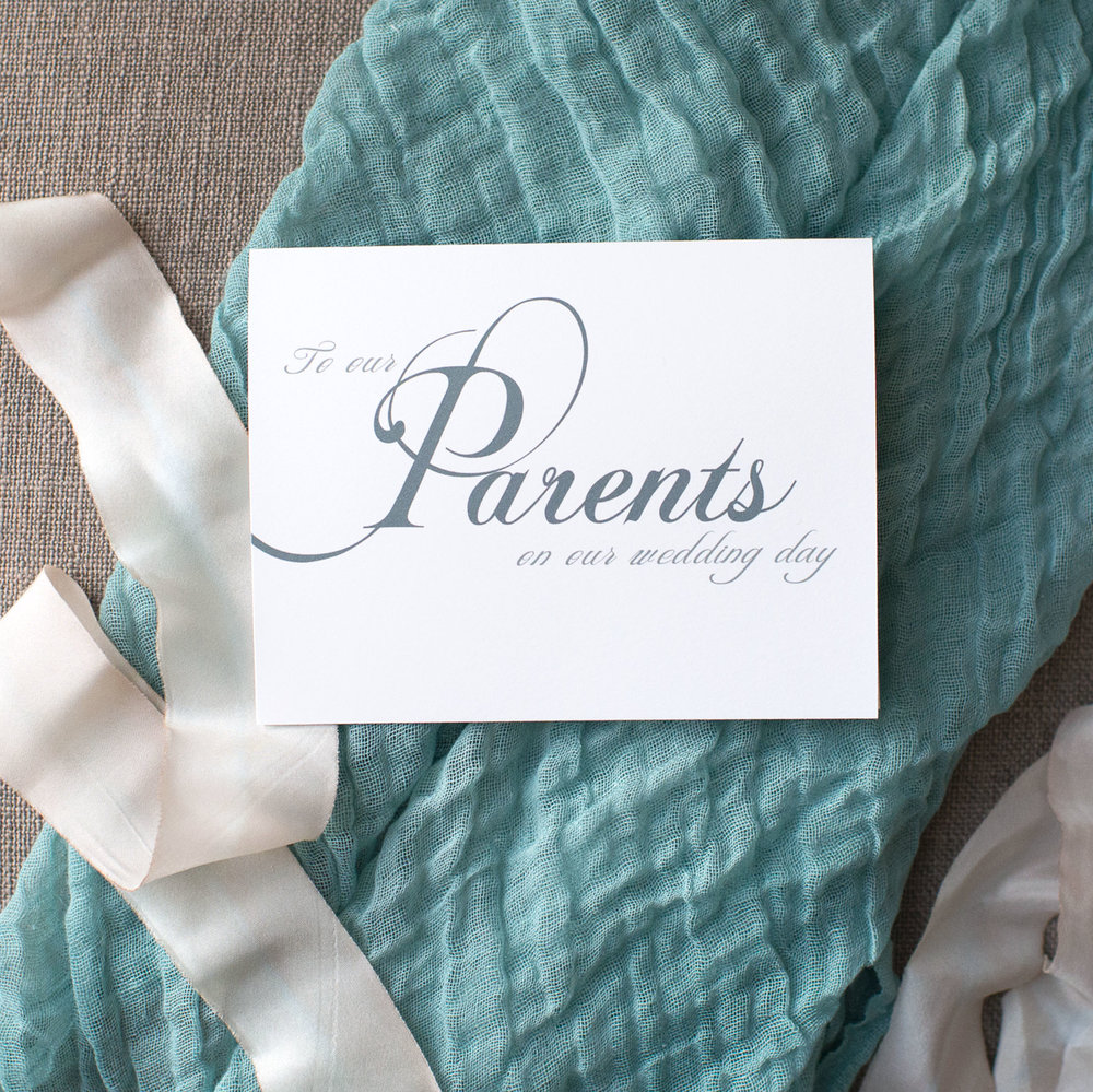 To Our Parents On Our Wedding Day Card
