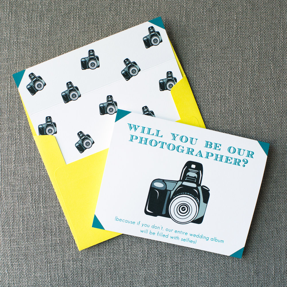 Will You Be Our Photographer Card