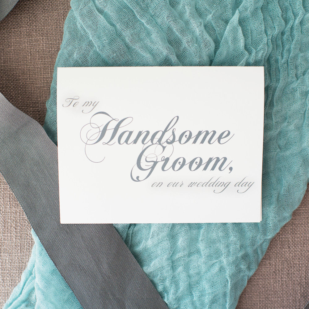 To My Handsome Groom On Our Wedding Day Card