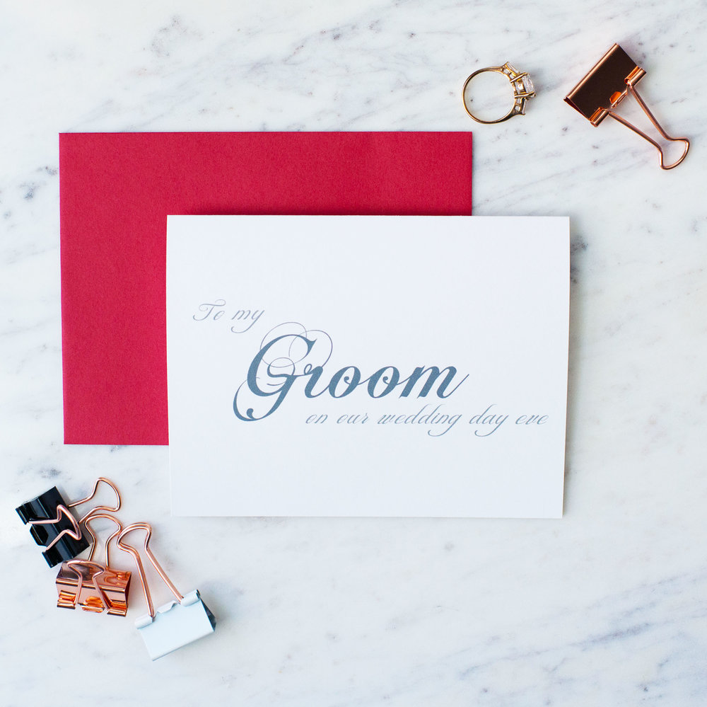 Squarespace Name and Note.jpgEnvelope Colors.jpg Squarespace Main Photo.jpgSquarespace Name and Note.jpgEnvelope Colors.jpg To My Groom On Our Wedding Day Eve Card