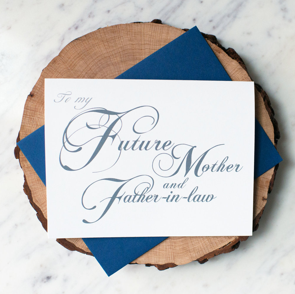 To My Future Mother and Father-in-Law Card