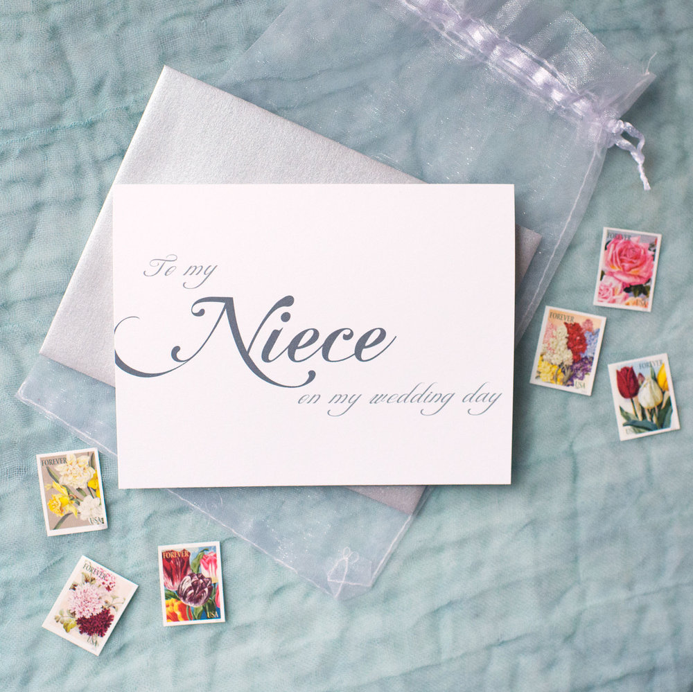 To My Niece On My Wedding Day Card