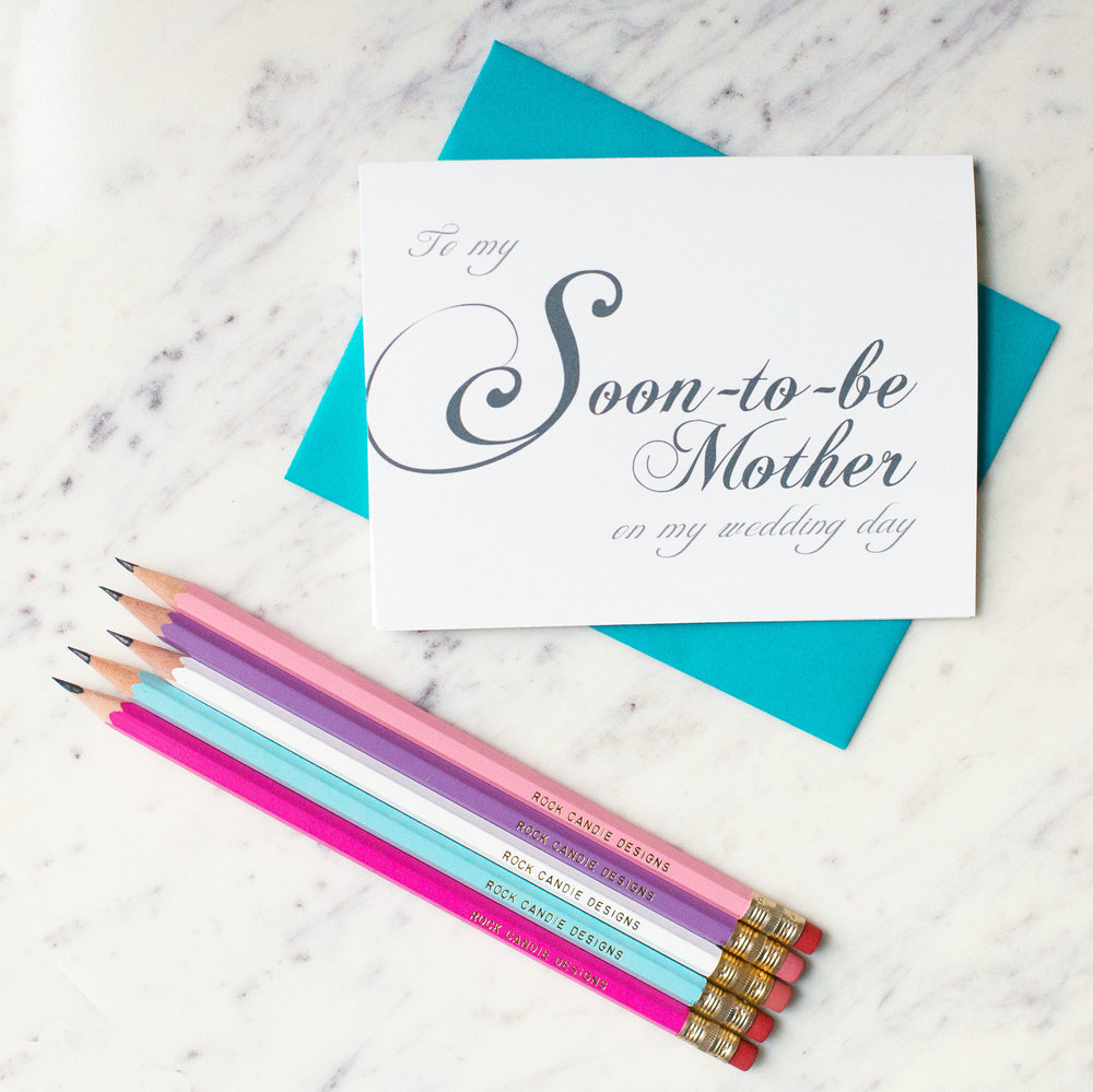 To My Soon-to-Be Mother on My Wedding Day Card