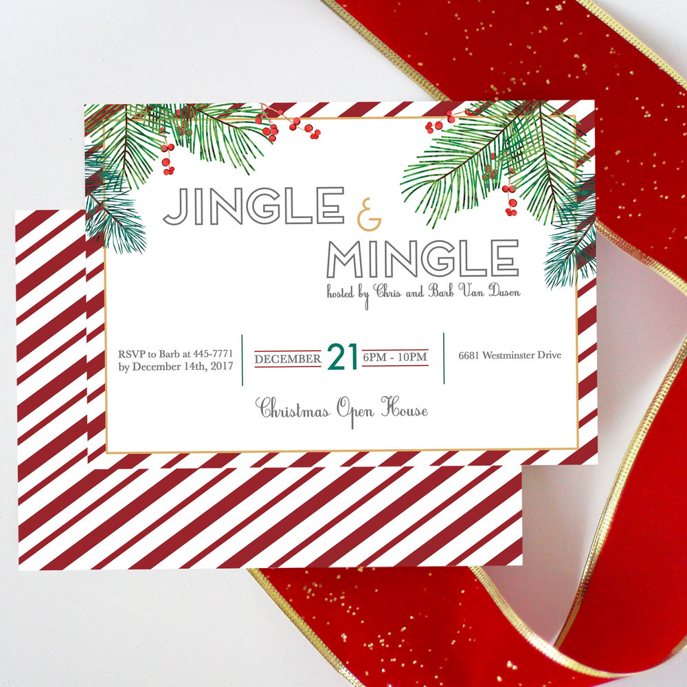 Mingle and Jingle Holiday Party Invitation