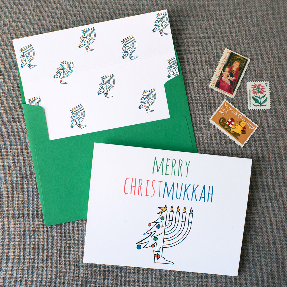 Merry Christmukkah Stationery Set
