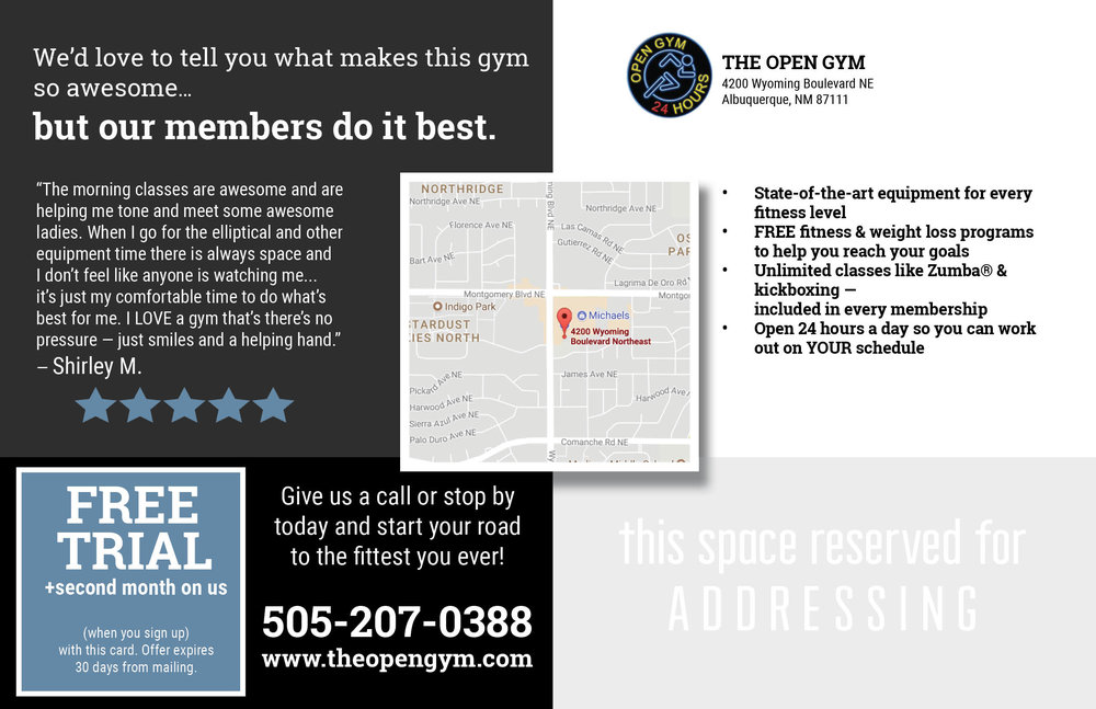 Gym Marketing Mailer - Back
