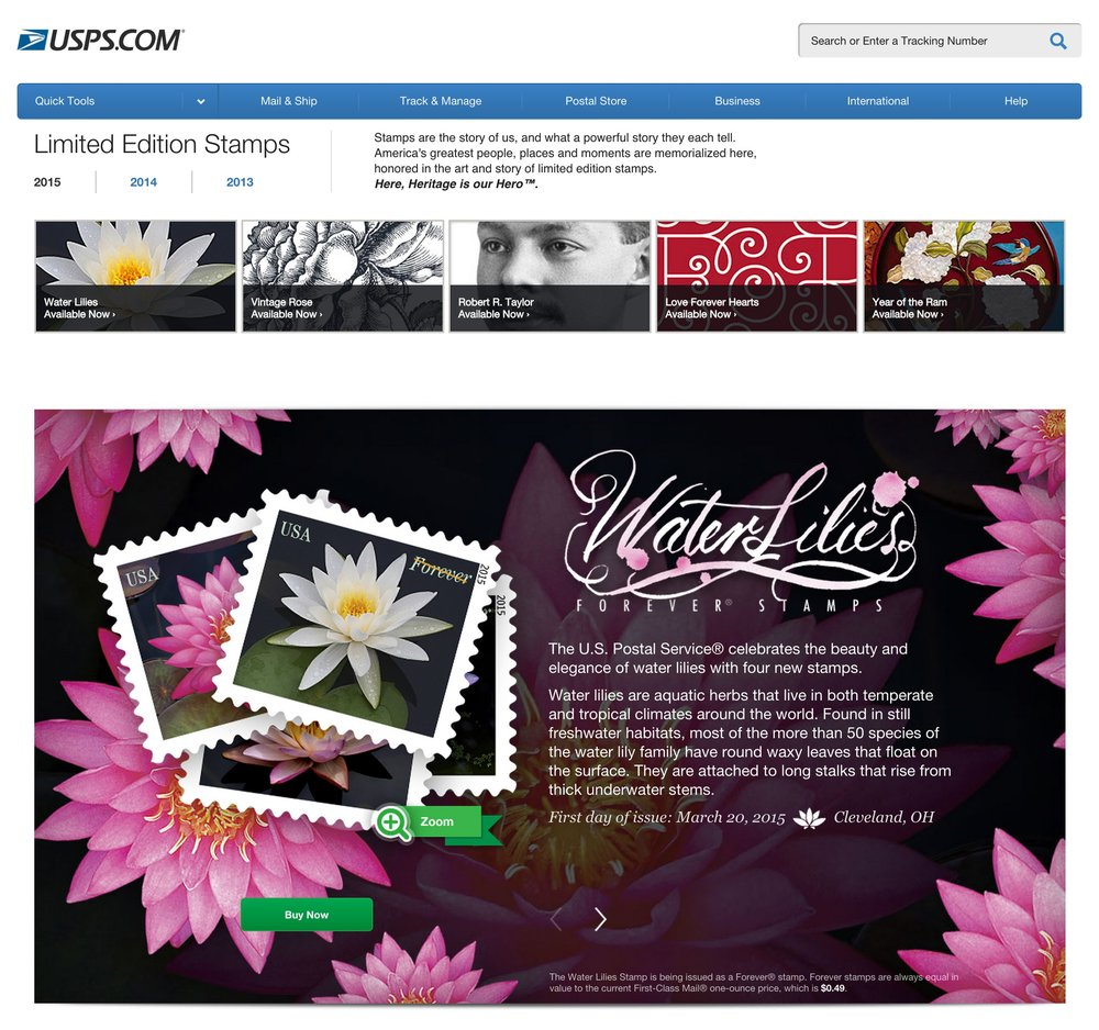 Water Lilies Forever® Stamps   USPS.jpg