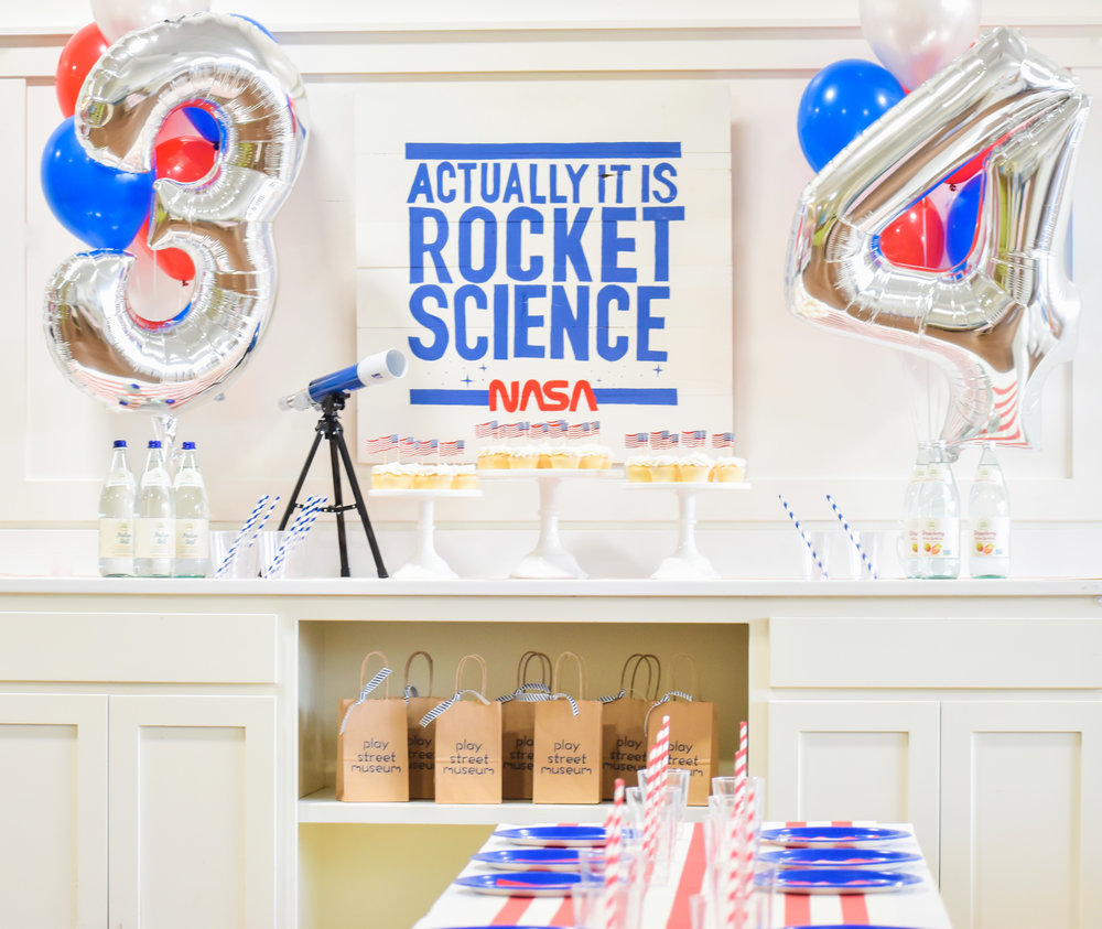 space party rocket science birthday party kids fun