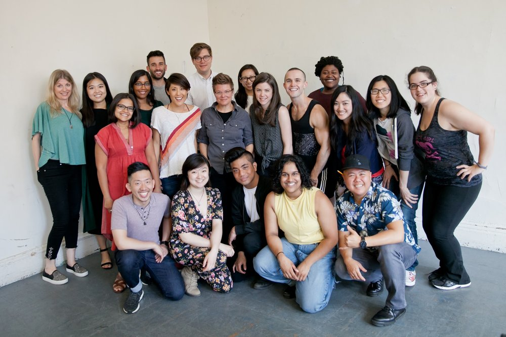 Cast and creative team of INTERSTATE, photo by Grace Naw.