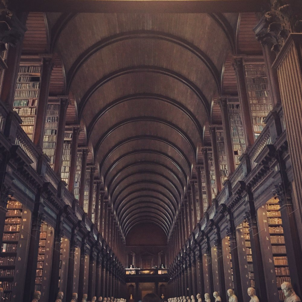 Trinity Library in Dublin, Ireland houses every book ever published in Ireland.