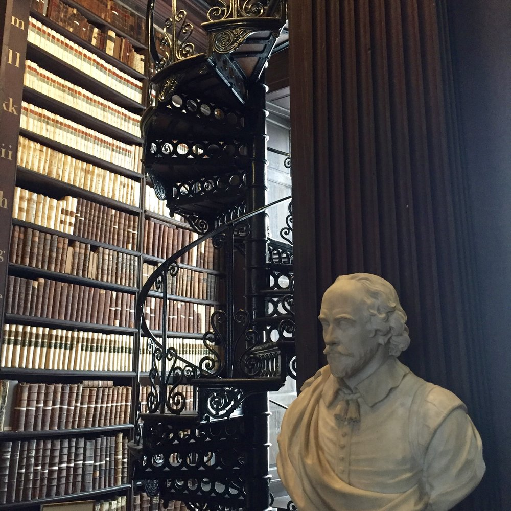 We couldn't leave Trinity Library without visiting the Bard!