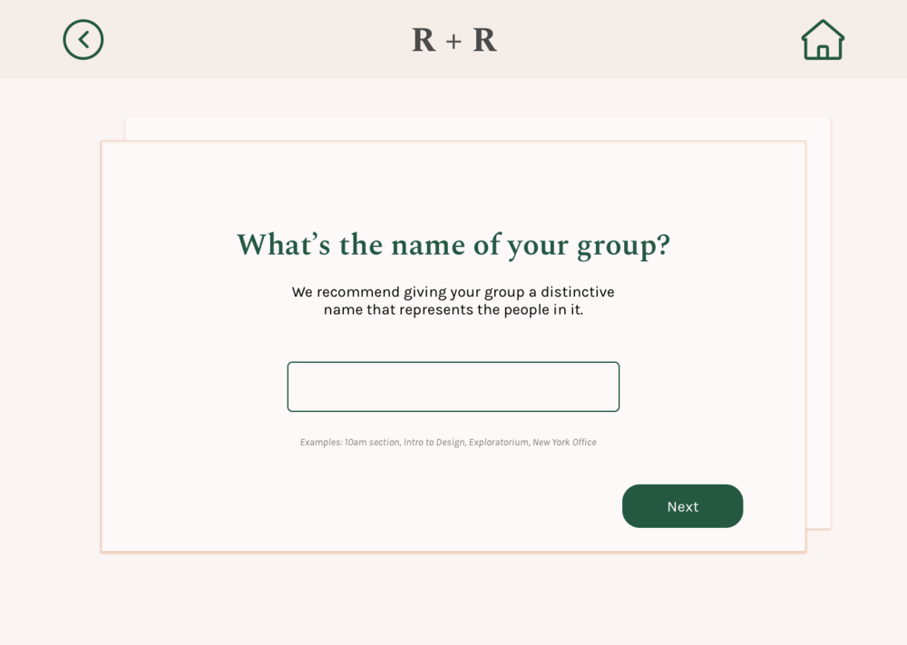 Add Group / Name