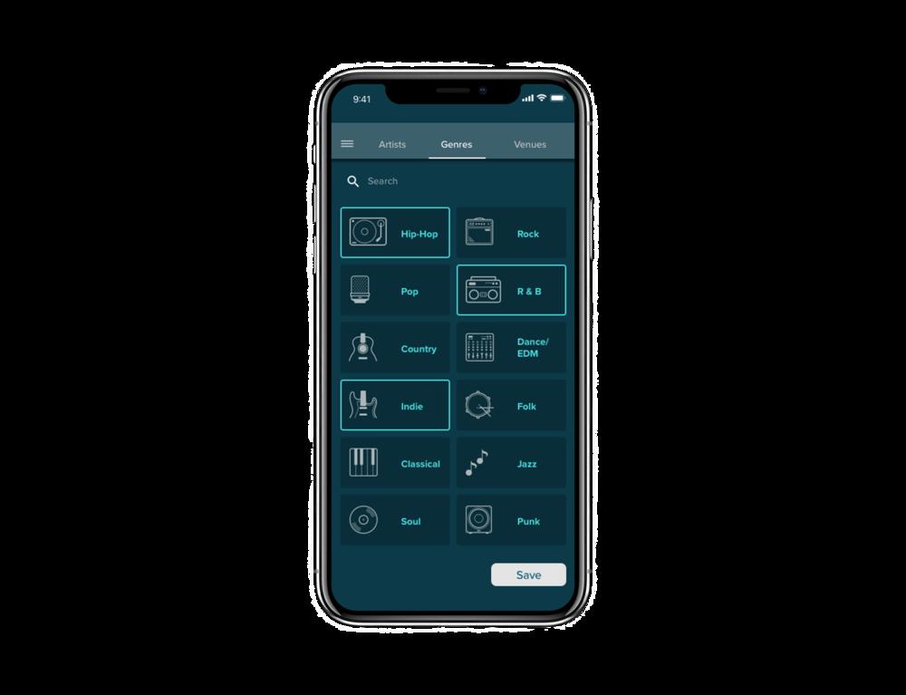 Preferences > Genre   Tab bar to facilitate navigation on page