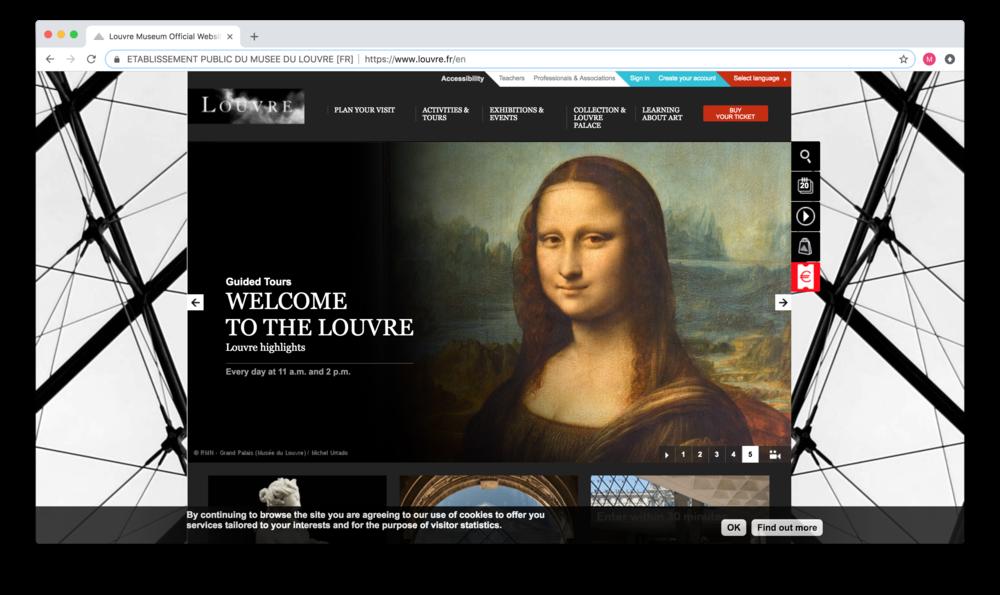 Louvre Landing Page