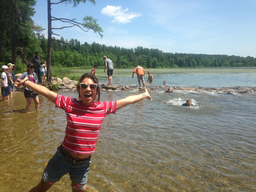 At Itasca, the headwaters of the Mississippi!
