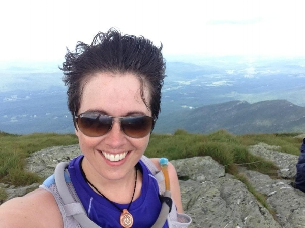 Summit #2, and the wind has  really  picked up! That's western Vermont and the Adirondacks behind me.