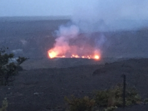 Halema'uma'u crater, as of this morning.