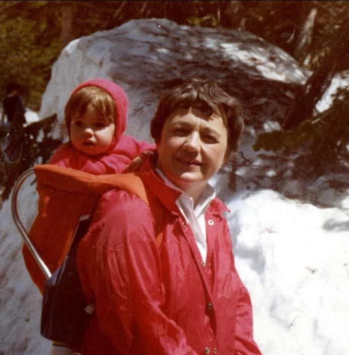 Early in my life, on a hike with Grandma (Sprague Lake, Rocky Mountain National Park) 1978.