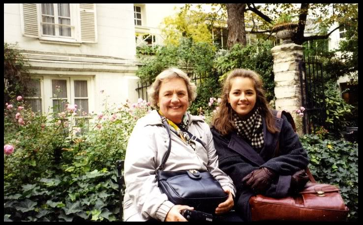 Grandma and me at Reid Hall, Paris, 1997.