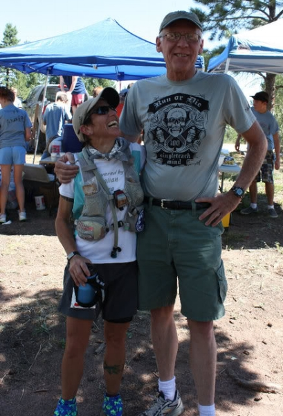 Sarah and Ed at Shinglemill. Yes, he really is that tall. Photo by Andrea Stout.