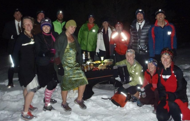 Fort Collins Trailrunners in our Winter Formal finery.