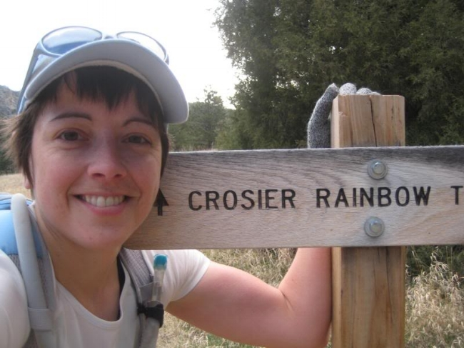 Tagging the Rainbow trailhead. Time to climb again!